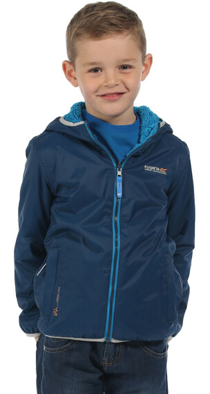 Regatta Lagoona Rain Jacket Kids Prussian (Methyl Blue Reverse)